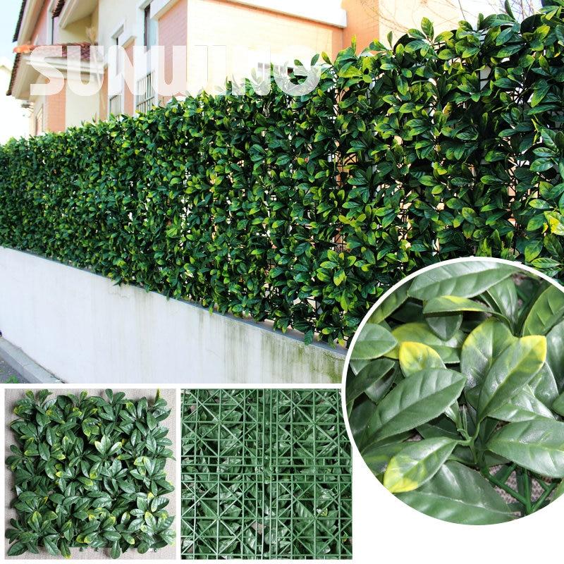 24pcs 25x50cm Decorative Artificial Grass Plants Fence