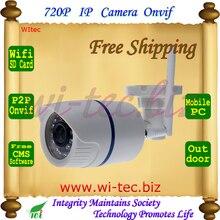 WI-FI 720 P ИК Безопасности Пуля ONVIF Водонепроницаемый Ночного Видения P2P IP Cam Ик 1.0MP Мегапиксельная Сетевая Камера Поддержка SD карты