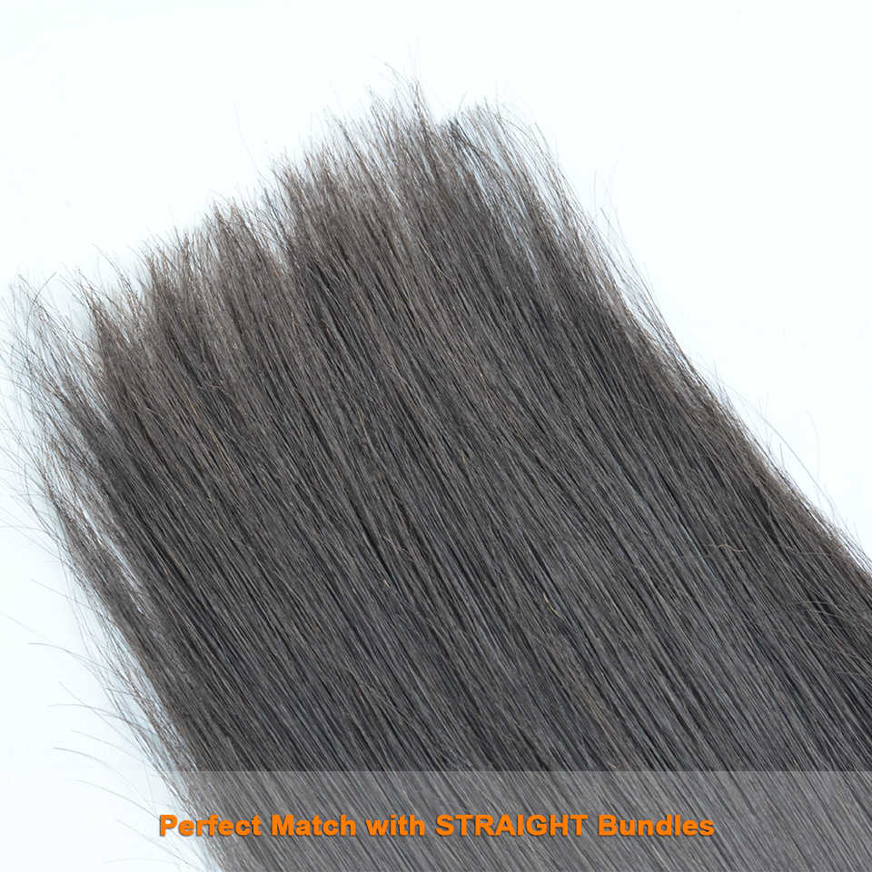 BAISI полный Топ Кружева Закрытие перуанские девственные волосы швейцарская шнуровка прямые волосы 5*5 закрытие свободная часть средняя часть свободная часть.