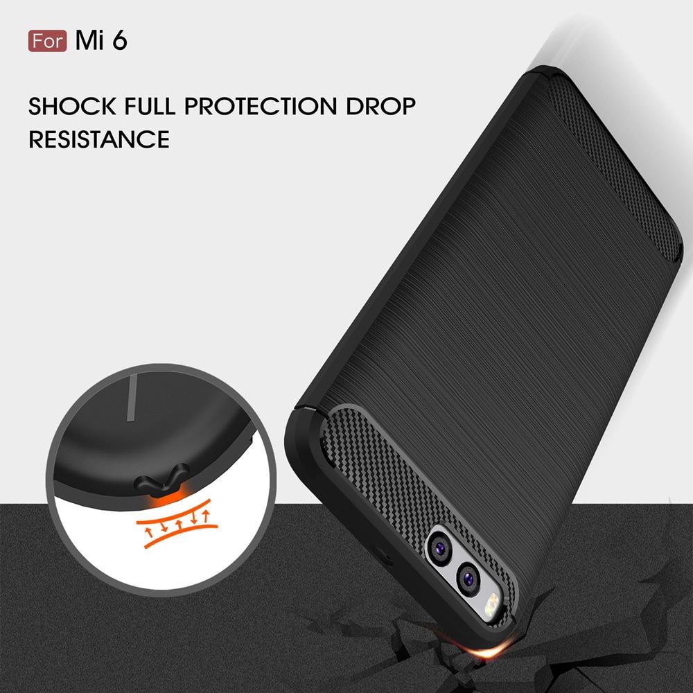 Xiaomi mi6 mi 6 arxa örtük üçün orijinal Carbon Fiber Soft TPU - Cib telefonu aksesuarları və hissələri - Fotoqrafiya 5