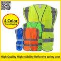 Chaleco reflectante de alta visibilidad chaleco reflectante de seguridad ropa de trabajo ropa de trabajo envío gratis