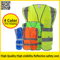 High visibility reflective safety vest reflective workwear safety workwear free shipping