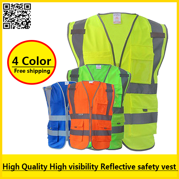 SFvest High visibility reflective safety vest reflective workwear safety workwear free shipping new high visibility fashion rainwear rain suit reflective jacket waterproof trousers safety clothing workwear free shipping