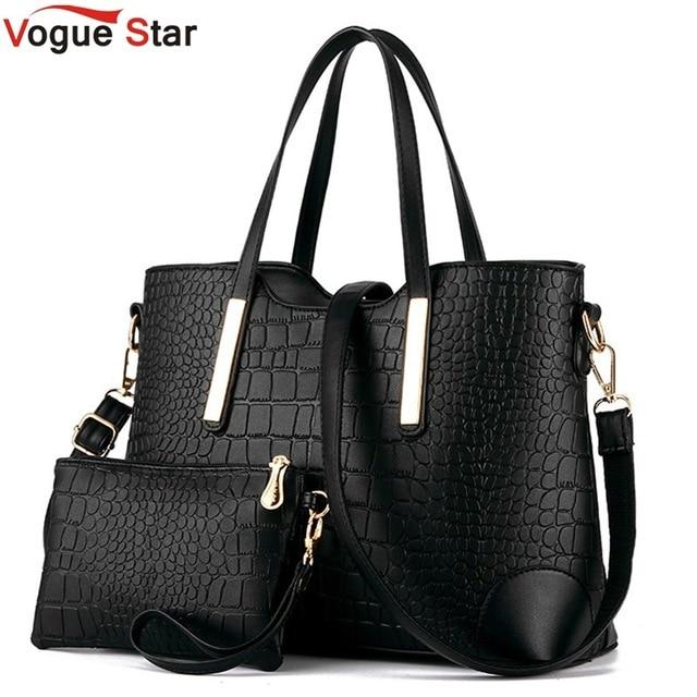 Новый 2017 женщин сумки кожи рук мешок крокодил crossbody сумки на ремне сумки посыльного сцепления сумка + кошелек 2 компл. мешок LS570