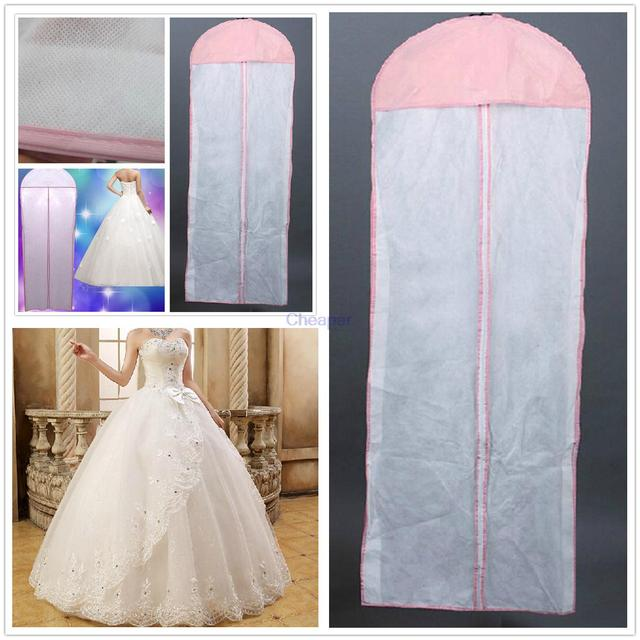 New White Breathable Wedding Prom Dress Bridal Gown Garment ...
