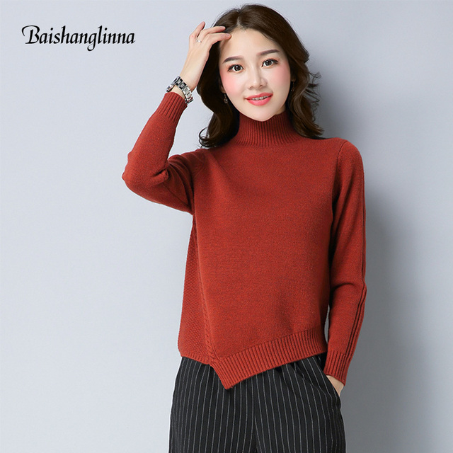 Aliexpress.com : Buy BAISHANGLINNA 2017 winter Women Turtleneck ...