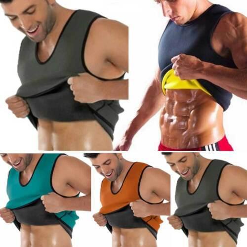 Men Waist Gym Neoprene Vest Sauna Ultra Thin Sweat Shirt Body Shaper Slimming Corset 5