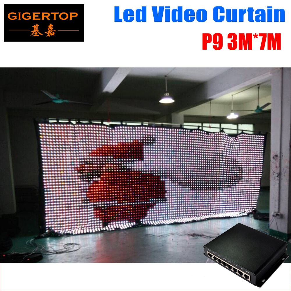Бесплатная доставка p9 3 м x 7 м LED Экраны, Шторы, шторы и видеостен, творческий и профессиональный светодиодный код решения!