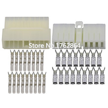 5 Sets 17 Pin sheathed automotive connector with  terminal  DJ7172-3-21 17P connector цена 2017