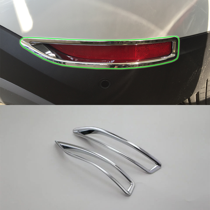 Car Accessories Exterior Decoration ABS Chrome Rear Fog Lamp Light Cover For BMW X1 2016 Car Styling accessories in Interior Mouldings from Automobiles Motorcycles