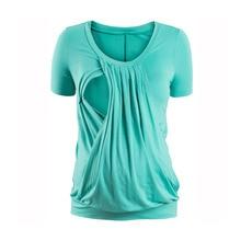 Breastfeeding Nursing Tops Maternity T-shirts For Pregnant Women Lactation Clothes Feeding Tops Pregnancy Tees Gravidas Clothing