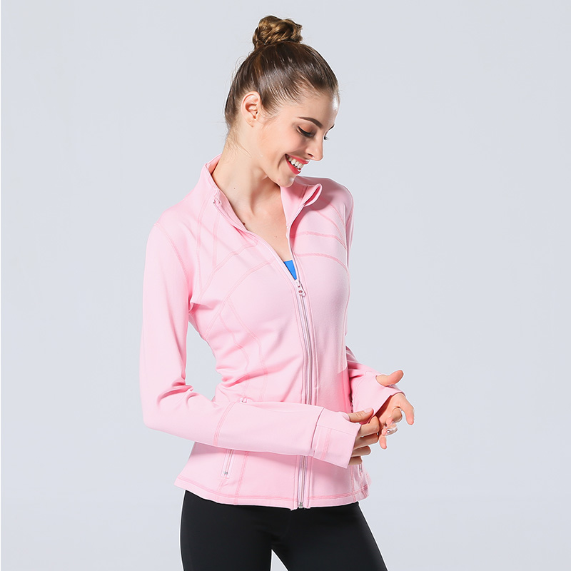 Rose Red Women Sport Jackets Zipper Hooded Running Coat Quick-dry Long-sleeved Gym Sweatshirt Fitness Outerwear Top Chaquetas Easy To Use Sports & Entertainment