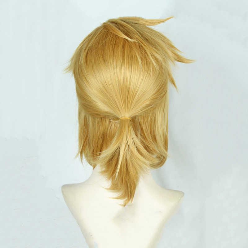 Легенда о Зельде: дыхание диких ссылку короткий Золотой Блонд пони хвост волос Косплей Костюм парик термостойкие волокна + уши
