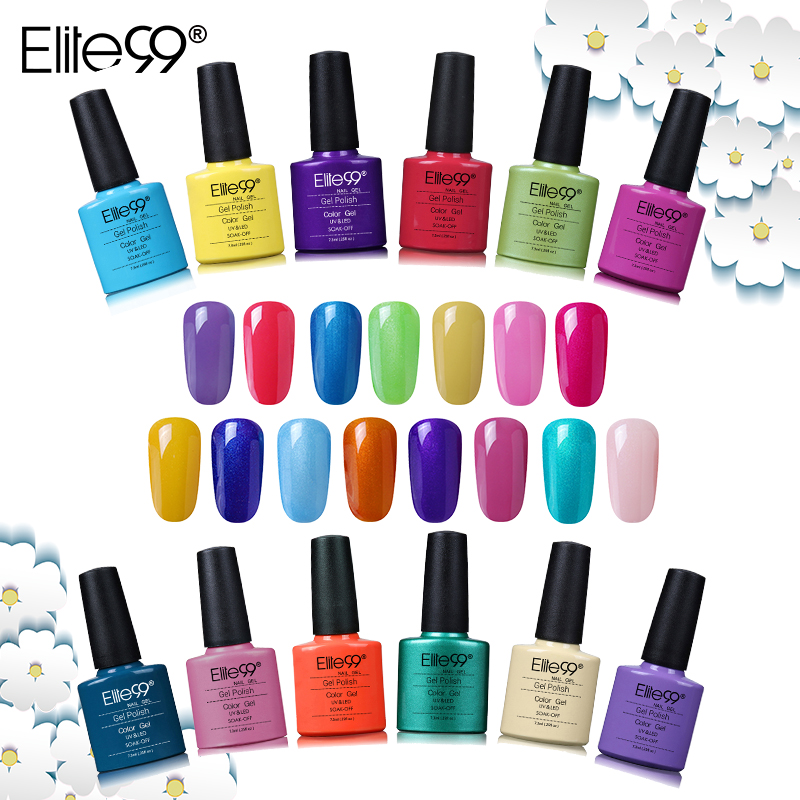 Elite99 79Pieces/Lot Colorful Gel Polish Soak off Long Lasting Nail Polish Need UV Led Lamp Curing  Enamel Nail Varnish LacquerElite99 79Pieces/Lot Colorful Gel Polish Soak off Long Lasting Nail Polish Need UV Led Lamp Curing  Enamel Nail Varnish Lacquer