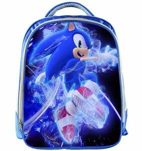 13 Inch Mario Backpack Children Cartoon Sonic Backpacks Boys Girls SchoolBag For Kindergarten Daily Backpack Kids BookBag(China)