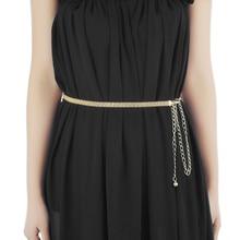 Womens Waist Belt Adjustable Gold Plated Skinny Wide Waist Chain for Dress Ladies Waistband Belt