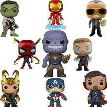 FUNKO POP Marvel Avengers Iron Man Captain America Vinyl Action Figure Collection Model Original Box Birthday Party Gifts 2F48