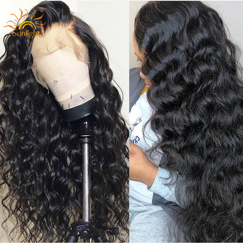 13x4 Deep Part Loose Wave Wig Long Lace Front Human Hair Wigs With Baby Hair Sunlight