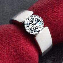 Bague en argent pour femme, bijou de couple, vente en gros, en cristal CZ, 30%