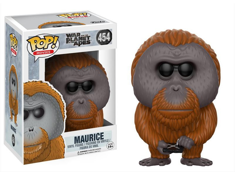 Funko pop Official Movies: War for the Planet of the Apes - Maurice Vinyl <font><b>Action</b></font> <font><b>Figure</b></font> Collectible Model Toy with Original Box