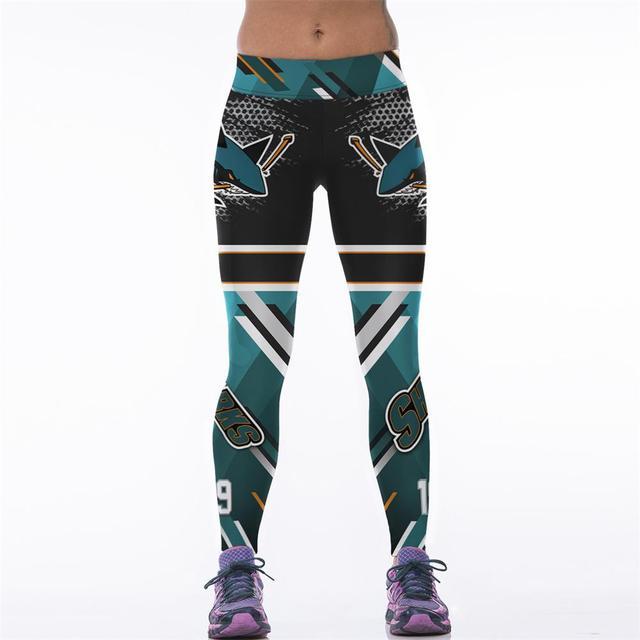 2664ea89b1b3c Adventure Time New Women Elastic Sporting Fitness Legging 3D Printed NHL  San Jose Sharks Slim Pants Gymnasium Workout Leggings