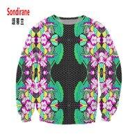 Sondirane Neue Mode Männer/Frauen 3D Print Blumen Sweatshirts Langarm Hip Hop Schweiß Tops Frühling Floral Casual Pullover kleidung