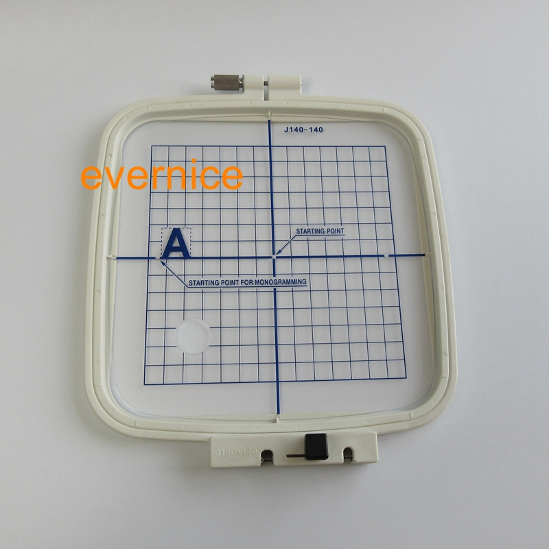 """Standard Large Embroidery Hoop 140mm x 140mm 5.5""""x 5.5""""  for Janome MC200E-in Sewing Tools & Accessory from Home & Garden    1"""