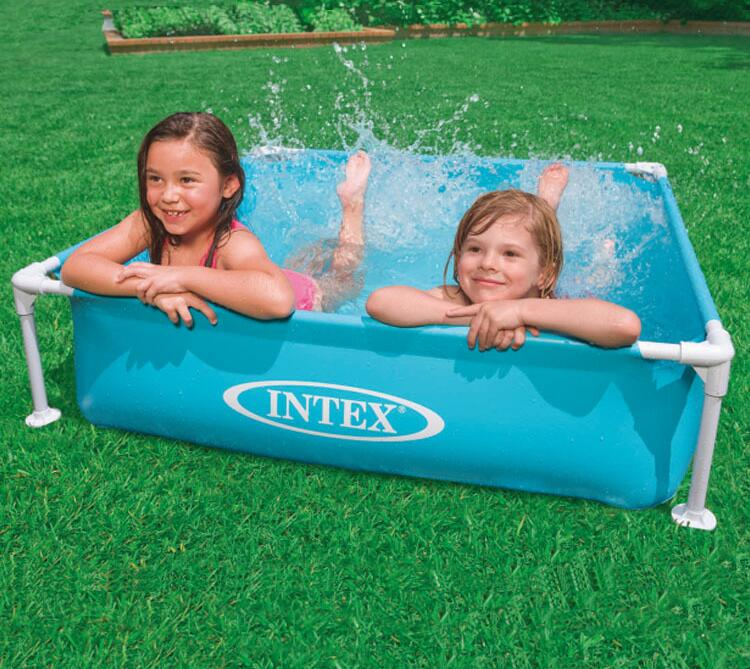 INTEX 57173 mini tube frame bracket pool fishing pond folded children's wading pool ball pool sand pool aquarium 122*122*30CM