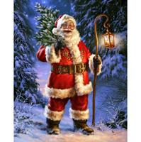 Santa Claus Free Shipping Santas Christmas Tree Diamond Embroidery DIY Needlework Diamond Painting Cross Stitch 3D
