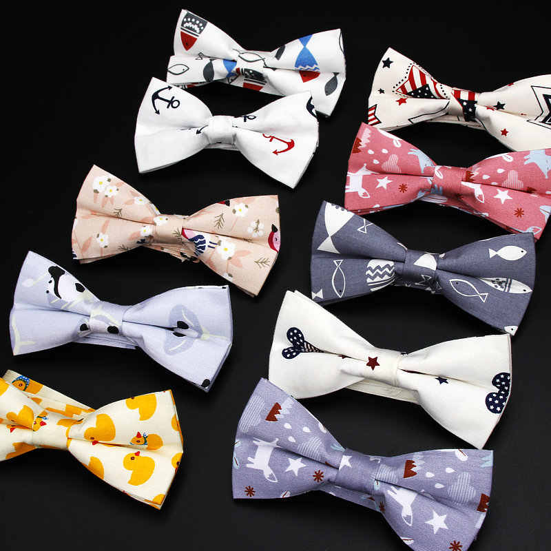 c73d834a6770 Men's Adjustable Formal 100% Cotton Vintage Animal Print Bow Tie Butterfly  Bowtie Tuxedo Bows Groom