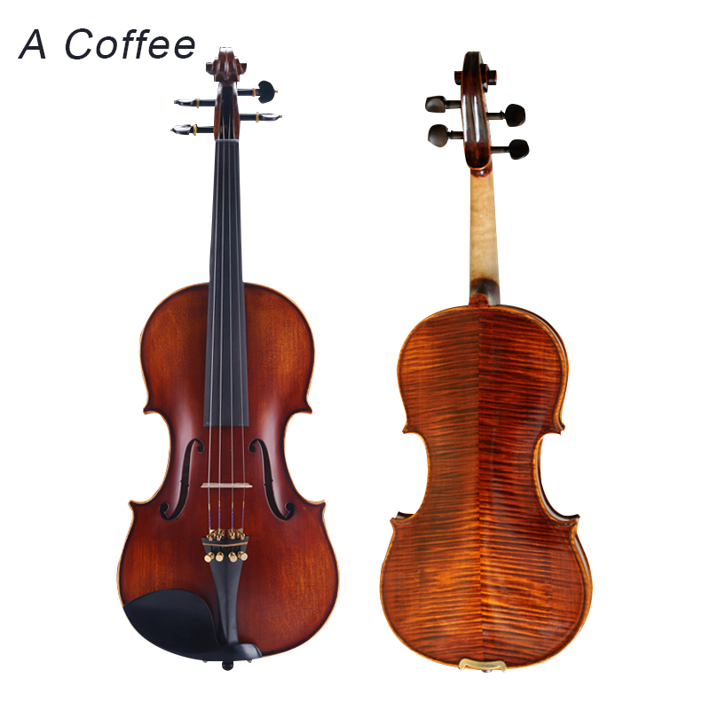 Handmade Violin High Quality Professional Grading Test For Child Or Adult Beginner Violino 1/4 1/2 Violinos High-grade Wood image