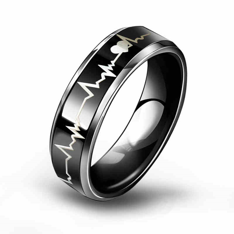 6mm/8mm Tungsten Carbide Rings With Black Carbon Fiber