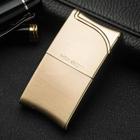 Inflatable Windproof Metal Lighter Fine High End Fire Novelty Cigarette Lighters Refillable Butane Lighter On Sale