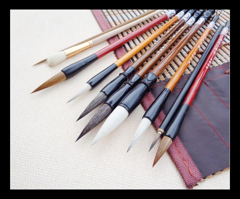 11 pcs/pack Calligraphy Brush Pen Set Paint Brush Art Supply Stationary with Brush Curtain цена