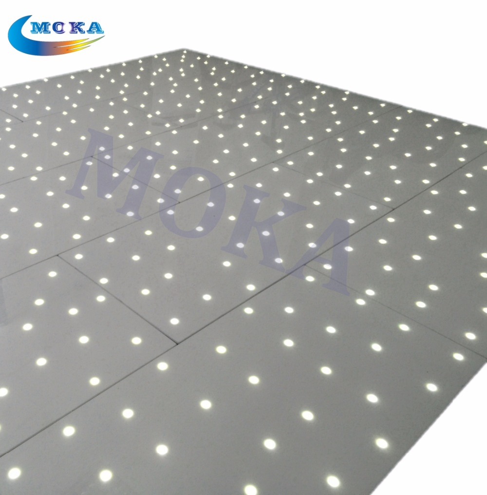 10ft x10ft White LED Starlit Dance Floor Hire, Wedding Party White LED Star Lit Dance Fl ...