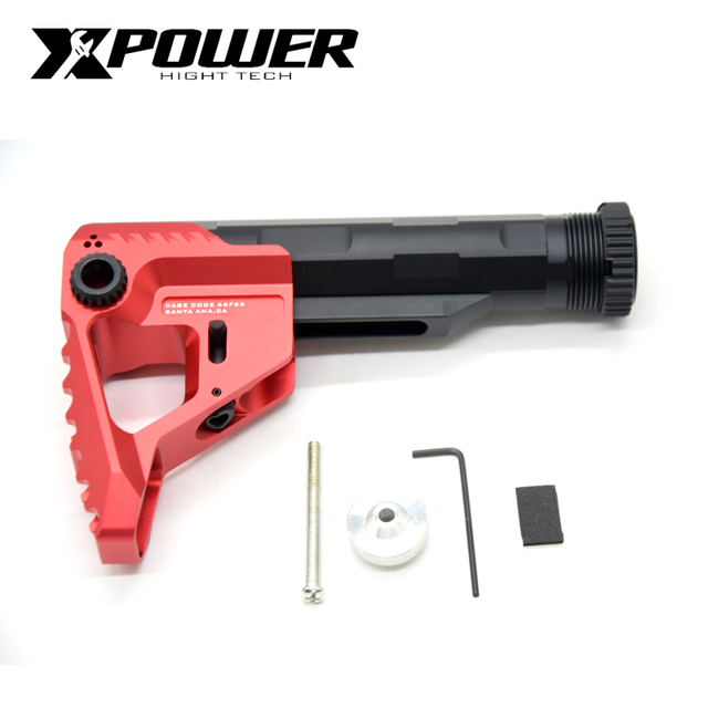 XPOWER PIT Stock Buffer Tube AEG CNC For Paintball Airsoft Air Guns Gel Blaster Gen9 Gearbox Pistol Hunting Accessories