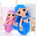 Encantadora princesa sirena muñeca almohada Peces creativo juguete de peluche 30-50 cm GIlr muñeca muñeca de trapo de regalo de cumpleaños femenino niños