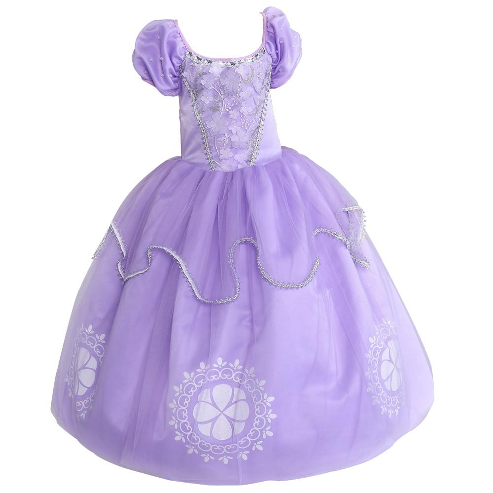 Kids Girls vestido princesa sofia dresses Children Clothes For Girl ...