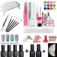 Nail Set Nail Gel UV LED Light 4 Color Gel Polished UV Gel Extended Gel Top Primer Manicure Tool Set Nail Tool Set