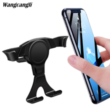 Gravity car bracket mobile phone ventilation clip holder battery for xiaomi 9 stand