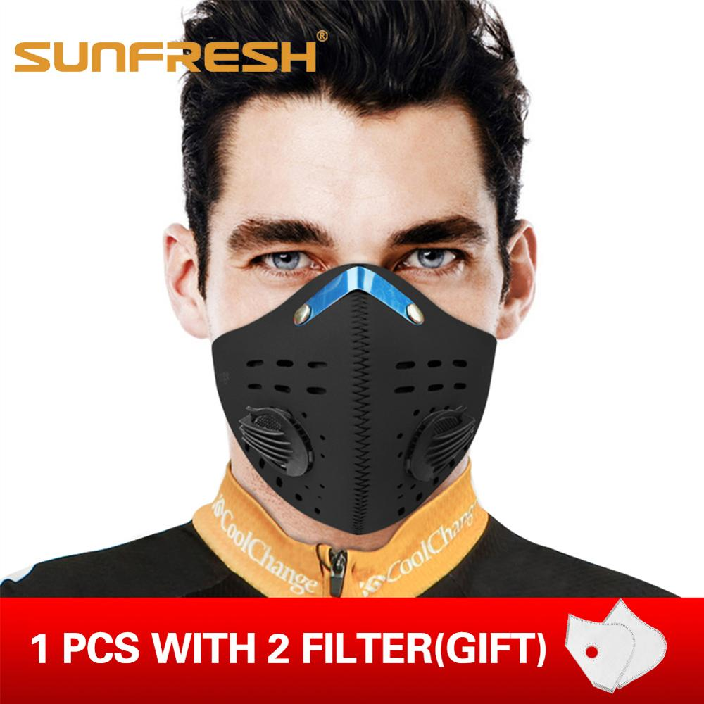 Outdoor Sports Magic Headband Cycling Bicycle Mask PM2.5 Washable Maskes With Replaceable Filter Anti Pollution Mouth Face Mask
