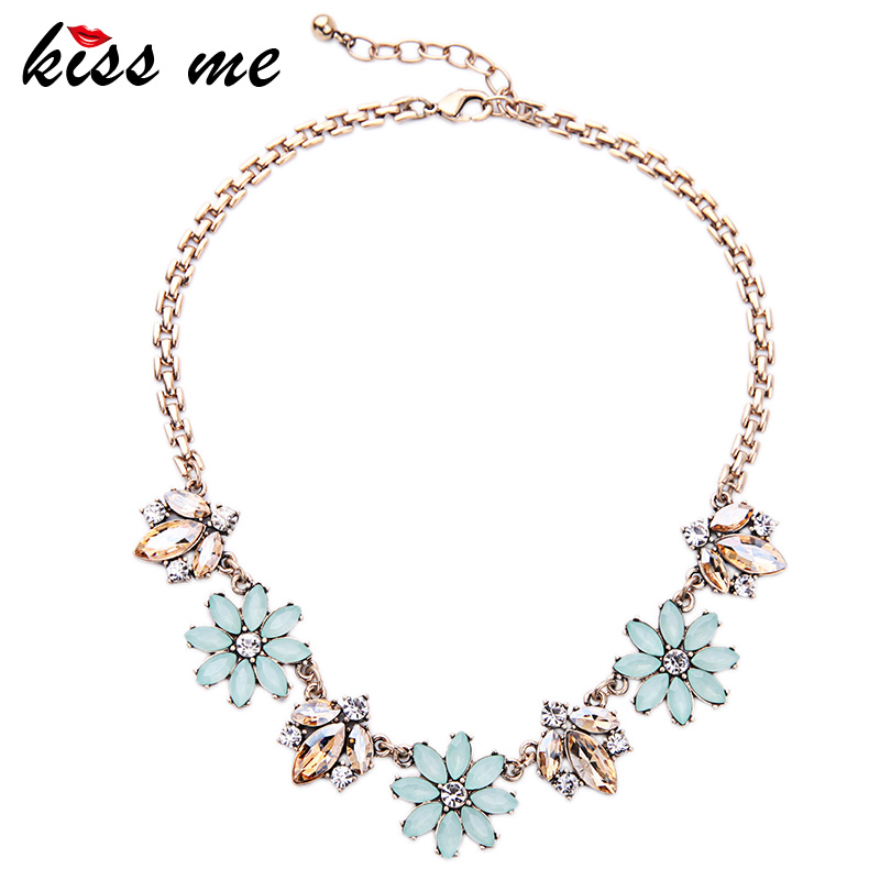 2016 New Design Alloy Flowers Necklace European and American Trendy Women Jewelry Necklaces & Pendants цена