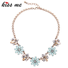 2016 New Design Alloy Flowers Necklace European and American Trendy Women Jewelry Necklaces & Pendants