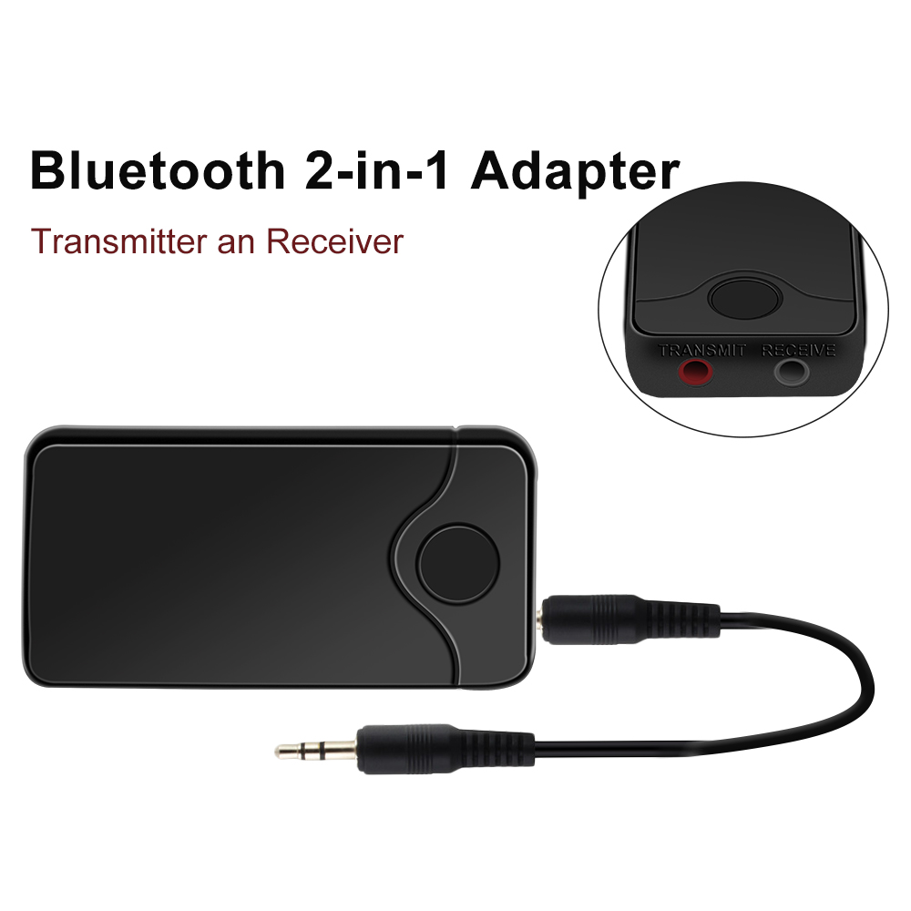 jedx 2018 new b18 2in 1 bluetooth transmitter receiver. Black Bedroom Furniture Sets. Home Design Ideas