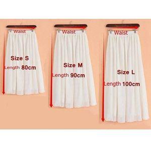 Image 5 - שיפון מגניב של נשים אלסטיים מותן גבירותיי ארוך מוצק צבע אלגנטי חצאית אביב ובקיץ סתיו קפלים falda SK71