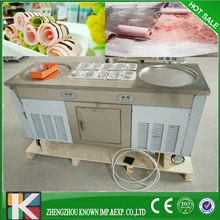 110V 60hz customized big paa double pan ice cream roll thailand fried ice cream machine