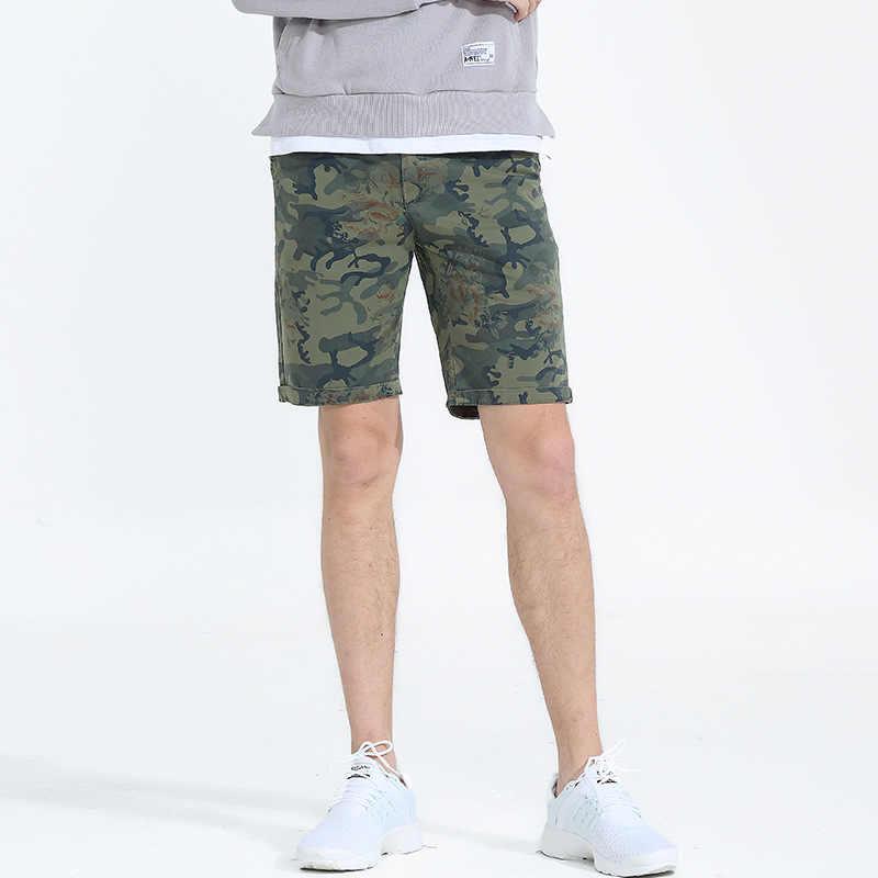 Denyblood джинсы мужские шорты 2018 Новое поступление; Летнее камуфляж печати хлопок короткие брюки Чинос Капри бермуды Пляжные шорты 2201A