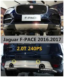 Dla Jaguar F PACE 2016.2017 240 km ochraniacz zderzaka straż tarcza osłaniająca przedni i tylny wysokiej jakości ze stali nierdzewnej zderzaki akcesoria|skid protectors|front skid platesteel front bumpers -