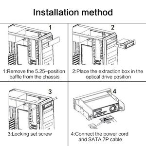 "Image 5 - SATA פנימי מגש פחות נייד מתלה עבור 2.5 ""או 3.5"" SSD HDD כונן קשיח לוח אם מארז"