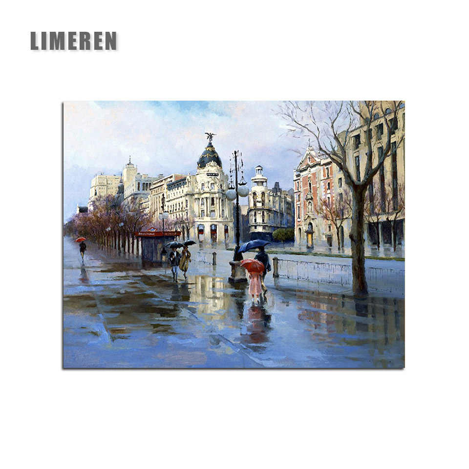 Rain Street London Coloring By Numbers Acrylic Paint Canvas Painting By Numbers For Adults Kids Unique Gift Living Room Wall Art